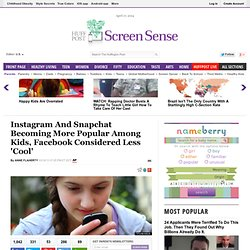 Instagram And Snapchat Becoming More Popular Among Kids, Facebook Considered Less 'Cool'