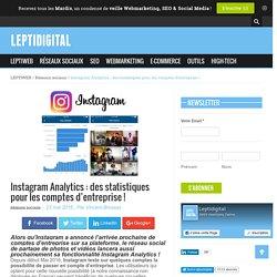 Instagram Analytics : des statistiques pour les comptes Pro !