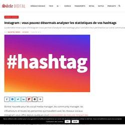 Instagram : vous pouvez désormais analyser les statistiques de vos hashtags