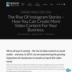 How You Can Create More Video Content For Your Business – Crunchy Social