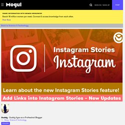 Add Links into Instagram Stories – New Updates - Mogul
