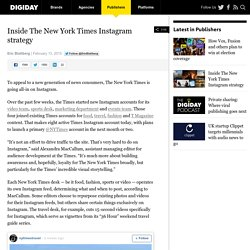Inside The New York Times Instagram strategy