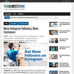More Instagram Followers, More Customers