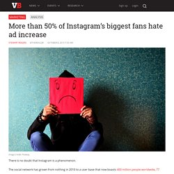 More than 50% of Instagram's biggest fans hate ad increase