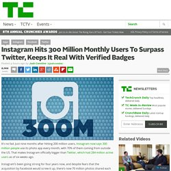 Instagram Hits 300 Million Monthly Users To Surpass Twitter, Keeps It Real With Verified Badges