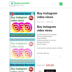 Buy Instagram video views - Get Instagram video views and likes cheap