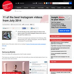 11 of the best Instagram videos from July 2014