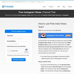 Get Free Instagram Views - 100% FREE [Video Views + Impressions!]