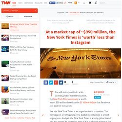 Instagram 'Worth' More Than the NYTimes