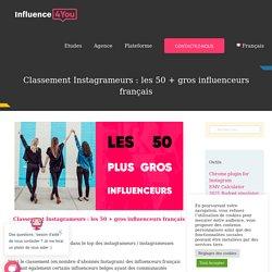 Classement Instagrameurs : les 50 + gros influenceurs français