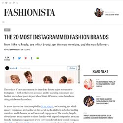 The 20 Most Instagrammed Fashion Brands