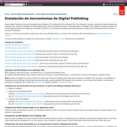 Digital Publishing Suite * Instalación de herramientas de Digital Publishing