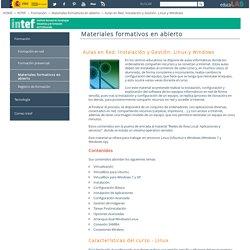 Aulas en Red. Instalación y Gestión. Linux y Windows - Materiales formativos en abierto