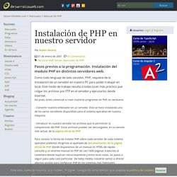 Instalación de PHP en nuestro servidor