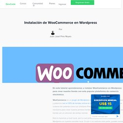Instalación de WooCommerce en Wordpress