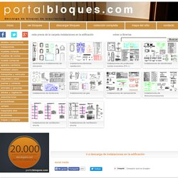 Librerías de Bloques AutoCAD: instalaciones en la edificación