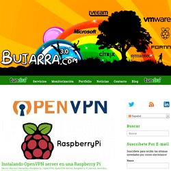 Instalando OpenVPN server en una Raspberry Pi - Tundra IT - Blog Bujarra.com