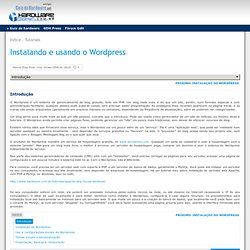Instalando e usando o Wordpress - Flock
