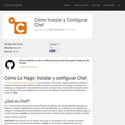 Cómo Instalar y Configurar Chef - CODEHERO