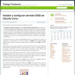 Instalar y configurar servidor DNS en Ubuntu Linux