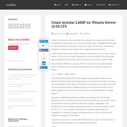 Cómo instalar LAMP en Ubuntu Server 12.04 LTS - nireleku