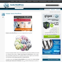 Instalar Varios WordPress