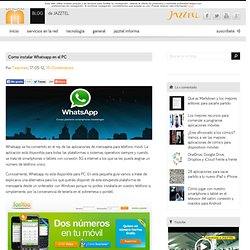 Como instalar Whatsapp en el PC