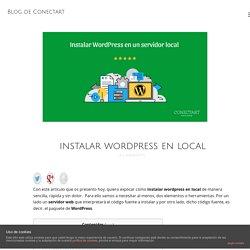 Instalar WordPress en local.Guia completa y actualizada para 2017