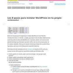 Los 8 pasos para instalar WordPress en tu propio ordenador