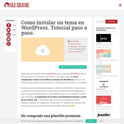 Como Instalar un Tema en WordPress: Tutorial
