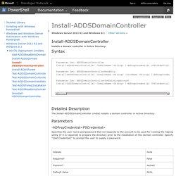 Install-ADDSDomainController