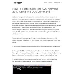 How To Silent-Install The AVG Antivirus 2017 Using The DOS Command