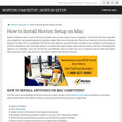 How to install antivirus on Mac computers? Call: 1-888-827-9060
