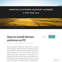 Norton Customer Support Number 1-800-875-274