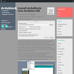 Blog Archive » Install ArduBlock into Arduino IDE