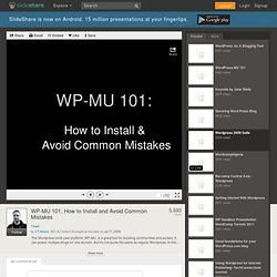 WP-MU 101: How to Install and Avoid Common Mistakes