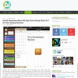 Instale a nota impressionante HD App do Galaxy Note 8.0 em seu Galaxy Telefone