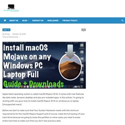 how to install macos mojave on windows pc