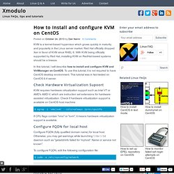 How to install and configure KVM on CentOS