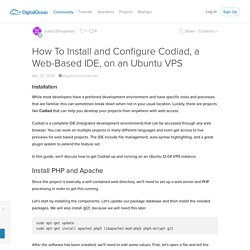 How To Install and Configure Codiad, a Web-Based IDE, on an Ubuntu VPS