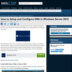 Install and Configure DNS on Windows Server 2012