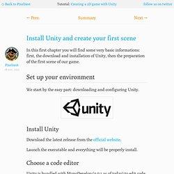 Install Unity and create your first scene —Pixelnest Studio