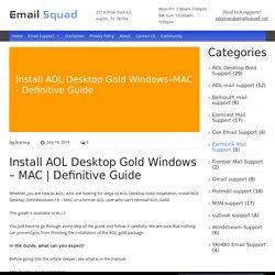 Install AOL Desktop Gold Windows - MAC