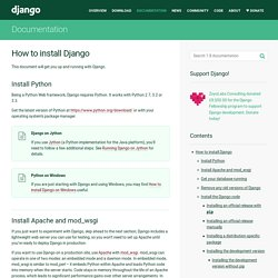 How to install Django