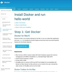 Install Docker and run hello-world - Docker