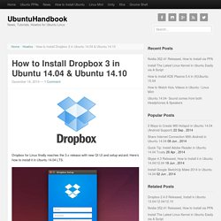 How to Install Dropbox 3 in Ubuntu 14.04 & Ubuntu 14.10