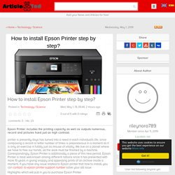 How to install Epson Printer step by step? Article