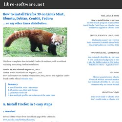 How to install Firefox 34 on Linux (Mint, Ubuntu, ...)