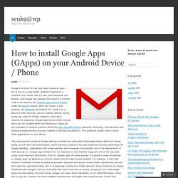 Google Apps (GApps) for android