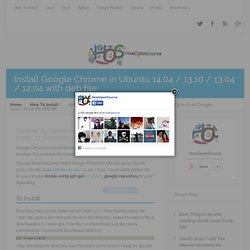 Install Google Chrome in Ubuntu 12.10 / 12.04 using deb file